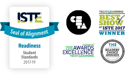 Awards from ISTE, CSTA, Tech & Learning, and The Journal